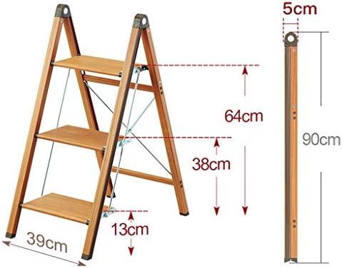 GYX-Taburetes Portátil Escaleras de Ascenso de 3 escalones Plegable Escalera de Tijera para Adultos Interior y Exterior Estante de Flores (Color: Color Madera): Amazon.es: Hogar