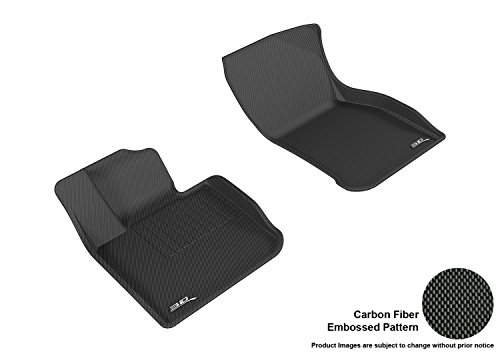3D MAXpider L1MN01511509 Black All-Weather Floor Mat for Select Mini Hardtop 4-Door Models Front Row