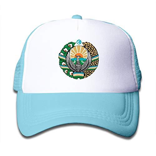 - Riizm-Cap Coat of Arms of Uzbekistan Children Travel Hats Caps Sky Blue