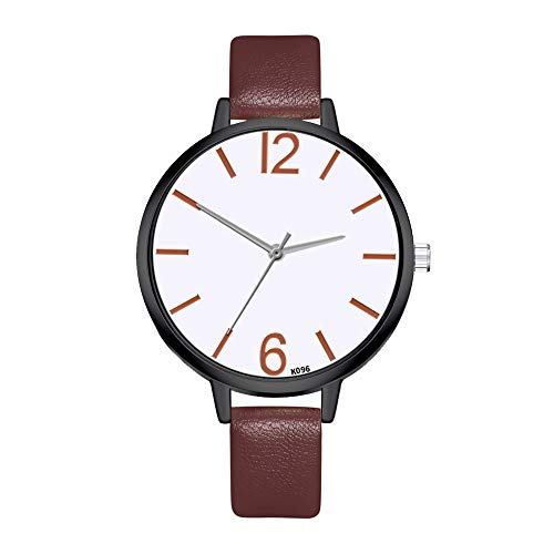 Saying Woman Wristwatch Ladies Watches Exquisite Bracelet Digitally Easy To Read Dial Jewelry Buckle Leather Watch Band Outdoor Sports Wrist Band Watches Wonderful Gift For Friends Family (Brown)