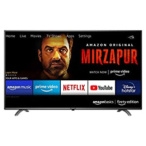 AmazonBasics 109cm (43 inches) Fire TV Edition 4K Ultra HD Smart LED TV AB43U20PS (Black)