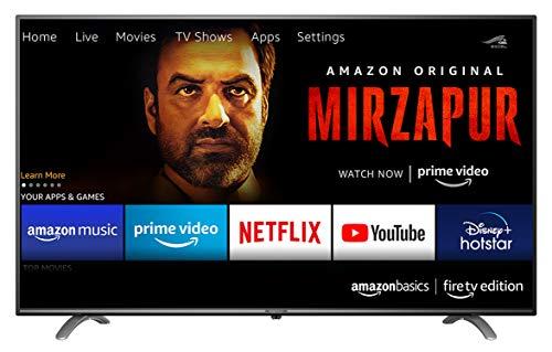 AmazonBasics 127cm (50 inches) Fire TV Edition 4K Ultra HD Smart LED TV AB50U20PS (Black)