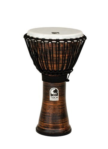 Toca TF2DJ-10SC Freestyle II Rope Tuned 10-Inch Djembe - Copper Spun Finish
