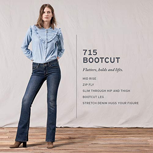 Suave 715 Negro Bootcut 's nbsp;mujer Levi Jeans 1PAwSBBq