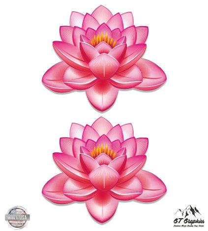 Beautiful Pink Lotus Flowers Set of 2 - 10