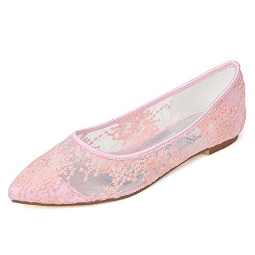SoiréE 0608 Pour FêTe De Noir Blanc L Manchette Chaussures YC De pink Rose amp; Lacets Mariage Femme 16 De ABSPYwq