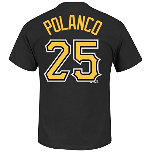 - Gregory Polanco Pittsburgh Pirates #25 MLB Youth Name & Number Player T-Shirt (Youth Large 14/16)