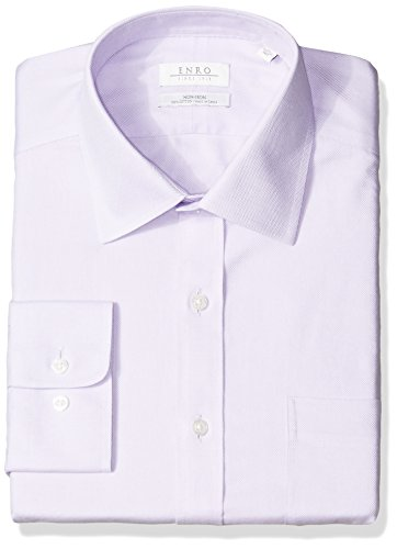 Enro Men's Big and Tall Beverly Queens Oxford Non-Iron Big & Tall Dress Shirt, Lavender, 220 x 36/37 ()