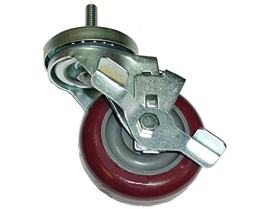 Swivel Stem Caster and Maroon on Gray Poly 3