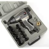 1/2 AIR IMPACT WRENCH KIT W/ SOCKETS SAE w/ Case Automotive Compressor Tools by Socket Wrenches
