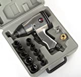 1/2'' AIR IMPACT WRENCH KIT W/ SOCKETS SAE w/ Case Automotive Compressor Tools