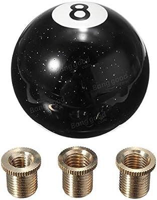 Pomo universal de 8 bolas para billar de coches, palanca de cambio de coche, color negro: Amazon.es: Grandes electrodomésticos