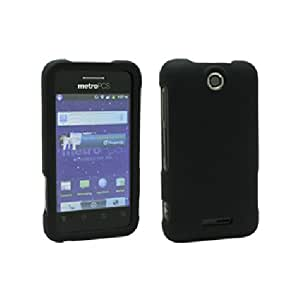 Black Hard Snap On Cover Case for ZTE Score M X500M