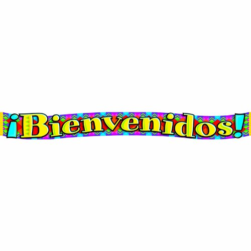 TREND ENTERPRISES INC. BANNER BIENVENIDOS SPANISH (Set of 12) by Trend Enterprises Inc
