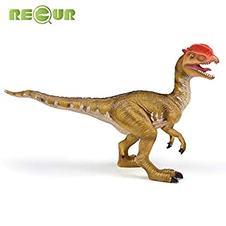 RECUR Dilophosaurus Dinosaurs Real Feel Dinosaur Toy Educational Figurine Decorative Collection Gift for Kids Ages 3+