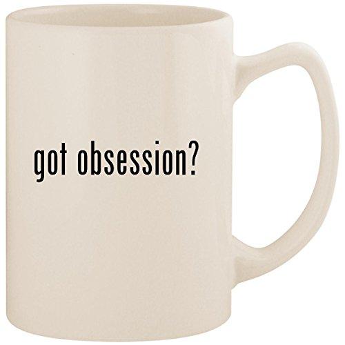 got obsession? - White 14oz Ceramic Statesman Coffee Mug Cup Alagio Silk Obsession Silk