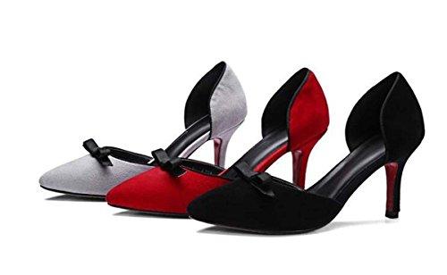 Beauqueen Pompa Donne Scarpin ragazze scarpe casual PARTITO tacco basso scarpe eleganti Europa formato 34-39 Grey