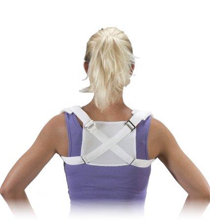 Bilt-Rite Mastex Health Clavicle Support, White, Medium