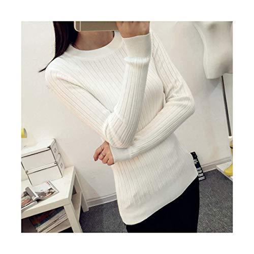 Mon5f color White Con One Lunghe Size Maglione Da V A Green Home Size E Donna Scollo Lavorato Maniche Maglia 4rO4xUg