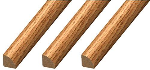 "CalFlor MD20033 Quarter Round ¾"" x ¾"" x 94"" Floor Base Molding for Wood, Laminate, WPC, LVT & Vinyl, 3 Pack, Natural Oak, 3 Piece"