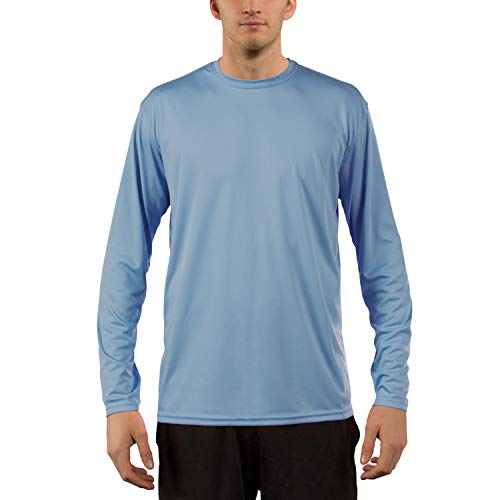 Vapor Apparel Men's UPF 50+ UV Sun Protection Performance Long Sleeve T-Shirt XXXX-Large Columbia Blue (T-shirt Action Sleeve Long)