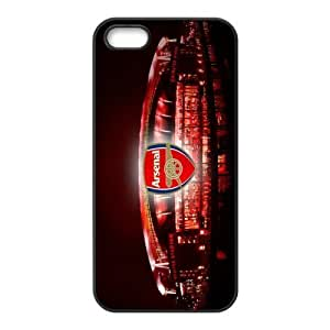 Soccer Arsenal Football Club Classic Design Print Black Case With Hard Shell Cover for Apple iPhone 5/5S