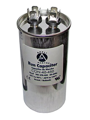 RUN CAPACITOR 40 MFD uF 440V/450 ROUND CAN. UL Certified (Capacitor 440v)