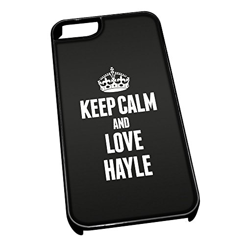 Nero cover per iPhone 5/5S 0314 nero Keep Calm and Love Hayle