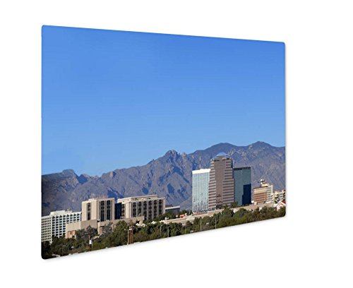 Ashley Giclee Metal Panel Print, City Skyline Tucson Az, Wall Art Decor, Floating Frame, Ready to Hang 16x20, - Az Tucson Skyline