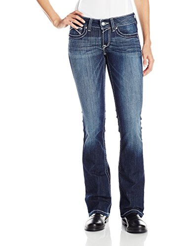 - ARIAT Women's R.e.a.l Low Rise Rosy Whipstitch Boot Cut Jean Lakeshore Size 32 Short