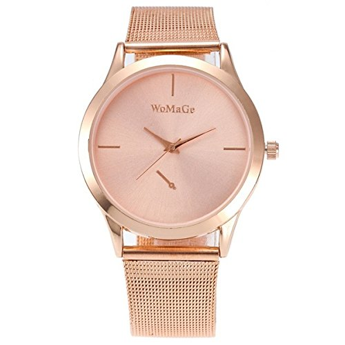 hexin 2018 Nueva Moda Femenina Relojes mujeres LUJO Reloj de cuarzo Rose Oro Acero Inoxidable vestido Relojes Montre Femme: Amazon.es: Relojes