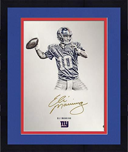 Framed Eli Manning New York Giants Signed Platinum Collection 16x20 Photograph - Steiner Sports - Eli Manning Framed