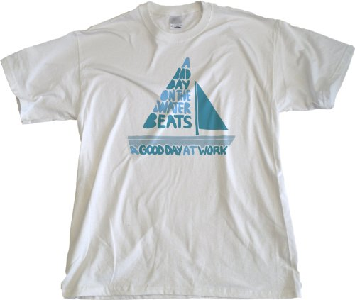 Ann Arbor T-Shirt Co. Men's A Bad Day On The Boat Beats A Good? T-Shirt