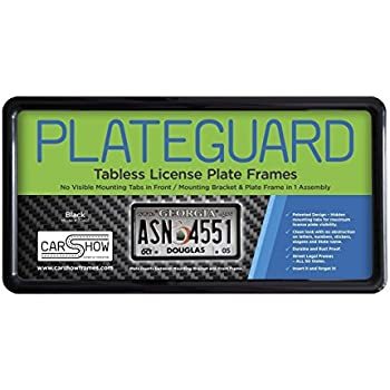 """LOT OF 50 BLANK BLACK PLASTIC 50 pieces License Plate Frame FRAMES WITH TABS 1/"""""""
