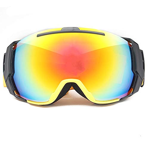 (Exquisite goggles Ski Goggles Ski Goggles Snowboard Glasses Outdoor Sports Snowboard Goggles Anti Fog UV Protection Windproof Double Lens Snowboard Goggles for Motorcycle Bicycle Skiing Skating)
