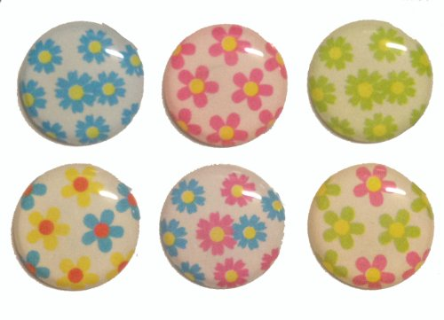 Simple Colorful Flowers Home Button Stickers for Iphone 5 4/4s 3gs 3g, Ipad 2, Ipad Mini, Itouch 6 Pieces