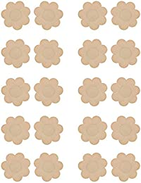 WingsLove 10 Pairs Womens Adhesive Nipple Covers Disposable Breast Petal Pads Patches (Flower Shape)