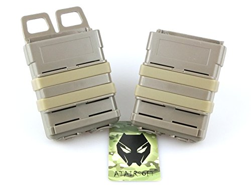 ATAIRSOFT FastMag Fast Double 5.56 Magazine Holster Pouch Set For MOLLE System (DE)