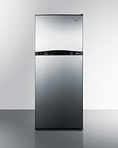 Energy Star Qualified Top Freezer Refrigerator with 9.9 cu. ft. Capacity Frost-Free Operation Adjustable Glass Shelves Full Freezer Shelf Door Storage Thin-Line Design and Interior Light in Stainless (Frost Free Top Freezer Refrigerator)