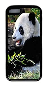 LINMM58281Panda Custom Personalized Design DIY Back Case for iphone 5/5s TPU Black -1210103MEIMEI