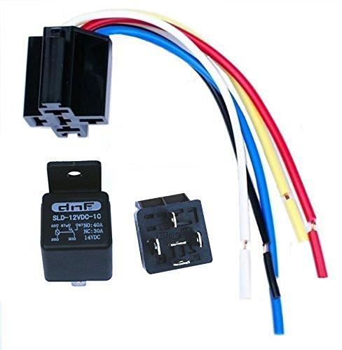 DNF (10 Pair) 30/40 AMP Relay Harness (Short) SPDT 12V Bosch Style