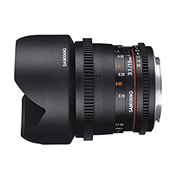 Image of Camcorder Lenses Samyang 10 mm T3.1 VDSLR II Manual Focus Video Lens for Sony E-Mount Camera