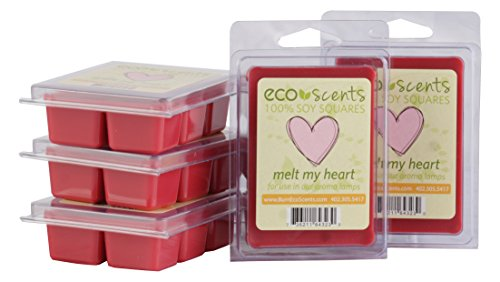 EcoScents MELT My Heart Wax Melts (5 Pack), Red