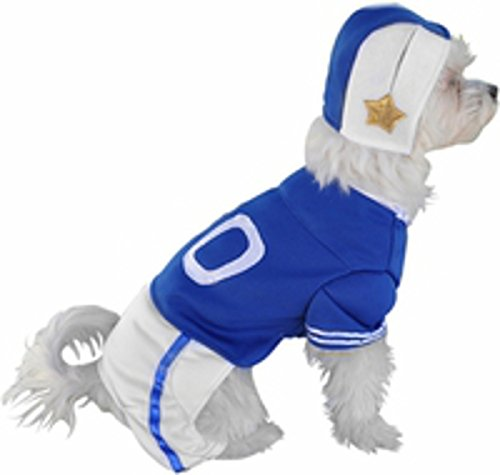Football Player Blue Uniform Dog Costume (Size: X-Small)]()
