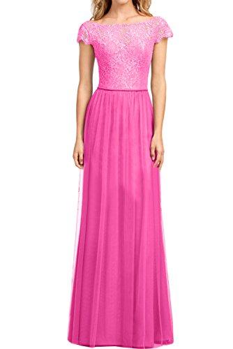 Partykleid Ballkleider Dunkelrosa A Damen Abendkleider Linie Ivydressing Elegant Arm Spitze Promkleid 8vx7nz