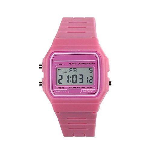 Siviki - Reloj digital retro de silicona, correa de goma, diseño vintage, para niños y niñas: Amazon.es: Relojes