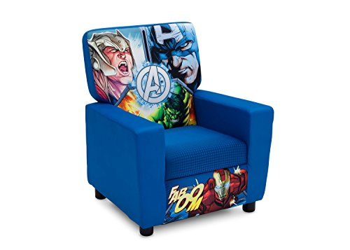 Hardwood Toddler Seat (Delta Children Marvel Avengers High Back Upholstered Chair)