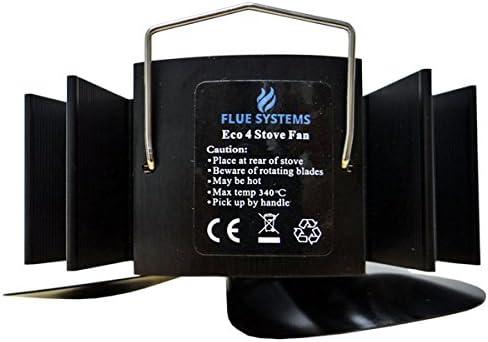 Fluesystems Eco 4 Chaleur Propuls/é Hotte de Po/êle