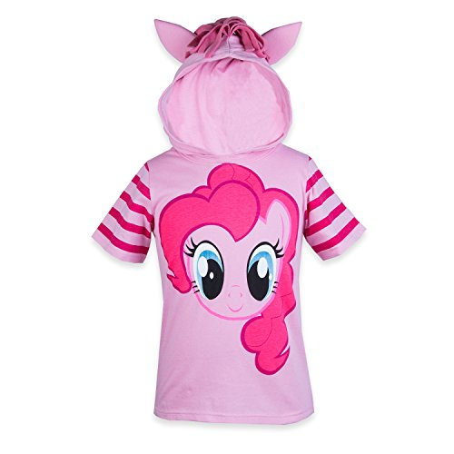 My Little Pony Hooded Shirt - Rainbow Dash, Twilight Sparkle, Pinky Pie - Girls (Pinky Pie, Medium-8/10) -