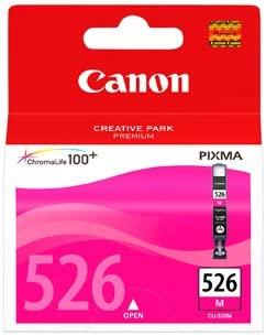 Canon CLI-526 M Cartucho de tinta original Magenta para Impresora de Inyeccion de tinta Pixma MX715-MX885-MX895-MG5150-MG5250-MG5350-MG6150-MG6250-MG8...